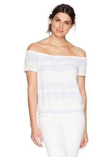 Monrow Women's Short Sleeve Off Shoulder Top  M