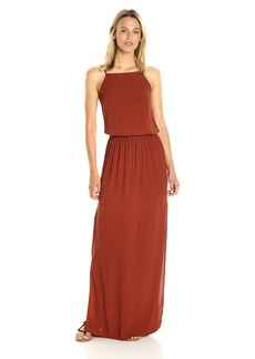 Monrow Women's Square Neck Maxi Dress  XS