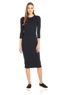 Monrow Women's Stripe Sweater Dress  L