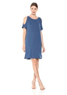 Monrow Women's Supersoft Open Shoulder Dress