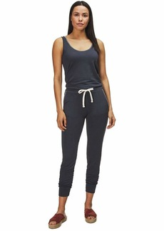 Monrow Women's Supersoft Tank Jumpsuit w/Blanket Stitch
