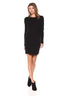 Monrow Women's Sweater Dress With Elbow Slash  L