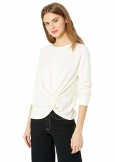 Monrow Women's Sweatshirt w/Front Twist