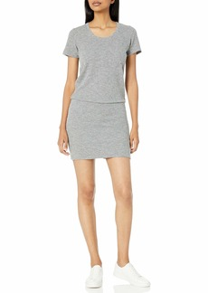 Monrow Women's  Thermal Pocket T Dress Extra Large