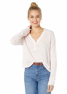 Monrow Women's Tissue Thermal Relaxed Basic Crew