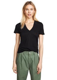Monrow Women's Tissue V-Neck Shirt  M