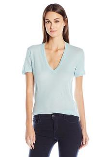 Monrow Women's Tissue V-Neck Shirt  XS