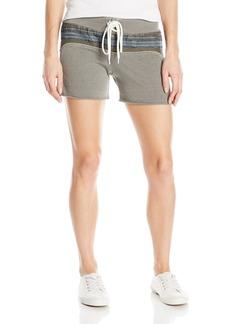 Monrow Women's Vintage Shorts with Burlap Stripe  L
