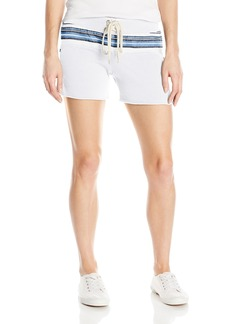 Monrow Women's Vintage Shorts With Burlap Stripe  XS