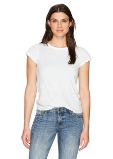Monrow Women's White Shirt W/Rib Tank  S