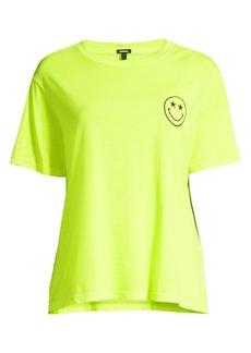 Monrow Neon Embroidery T-Shirt
