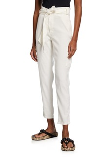 Monrow Paperbag Belted Cargo Pants