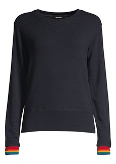 Monrow Rainbow Cuff Sweatshirt