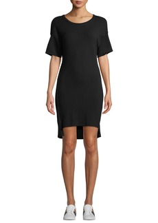 Monrow Scoop-Neck Dolman High-Low Tee Dress