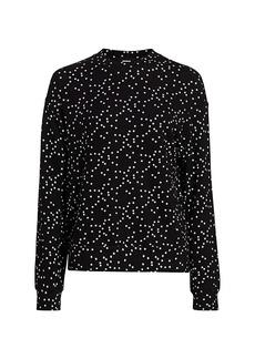 Monrow Stardust Crewneck Sweatshirt