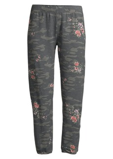 Monrow Supersoft Floral & Camo Print Joggers