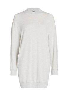 Monrow Supersoft Mockneck Seamed Sweatshirt Dress