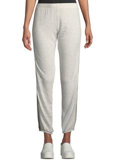 Monrow Supersoft Side-Stripe Sweatpants