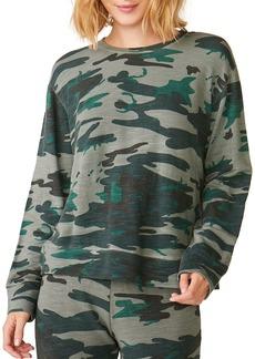 Monrow Supersoft Vintage Camo Oversized Sweatshirt