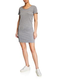 Monrow Thermal Short-Sleeve Pocket Tee Dress