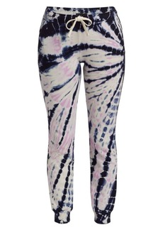 Monrow Tie-Dye Cinched Sweatpants