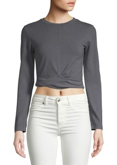 Monrow Twisted Front Cropped Top