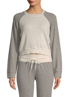 Monrow Two-Tone Cropped Sweater