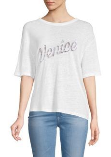 Monrow Venice Athletic Linen Tee