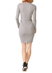 Monrow Wrapped Long-Sleeve Tee Dress