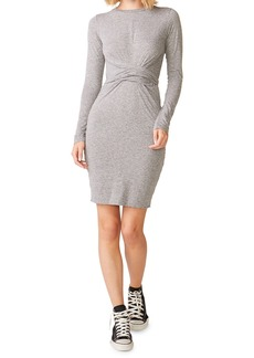 Monrow Wrapped Long-Sleeve Tee Dress