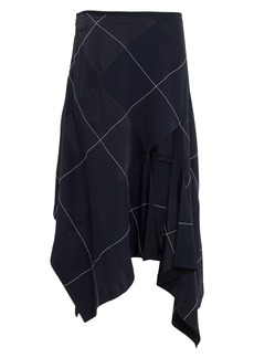Monse Argyle Asymmetrical Skirt