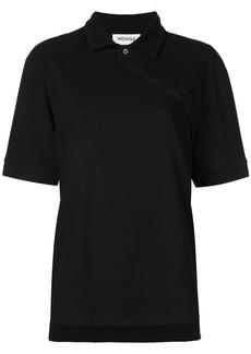 Monse asymmetric buttoned polo shirt