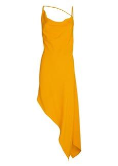 Monse Asymmetric Crepe Slip Dress