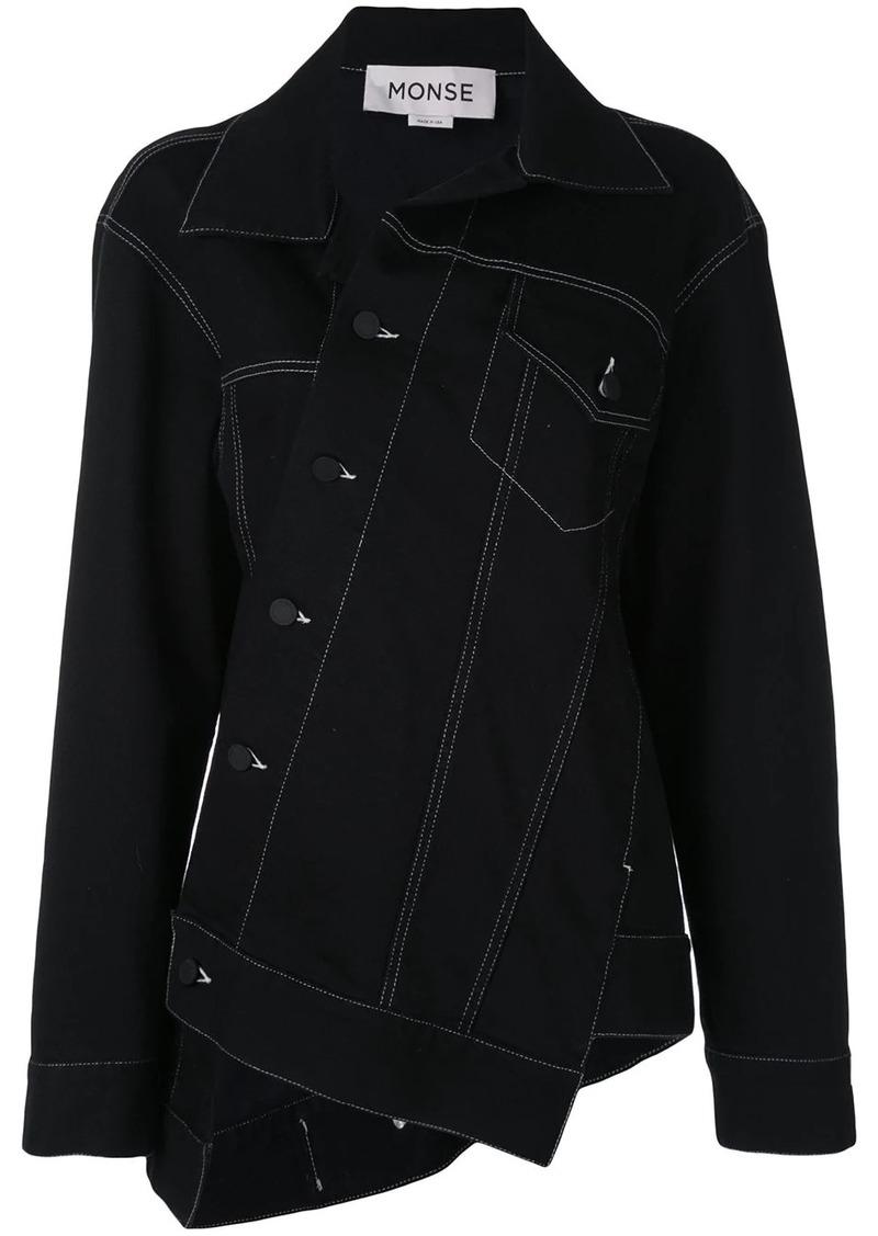 Monse asymmetric denim jacket