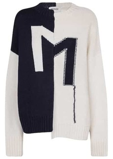 Monse Asymmetric merino wool sweater