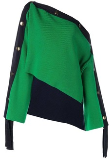 Monse asymmetric off shoulder sweater
