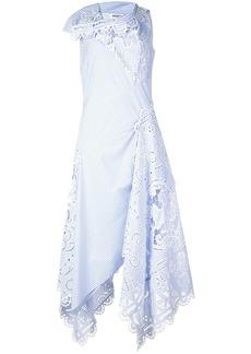 Monse asymmetric striped lace dress
