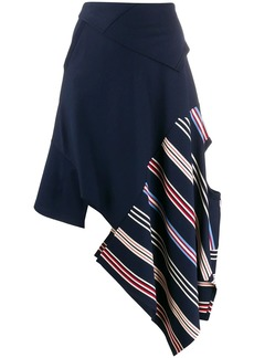 Monse asymmetric striped skirt