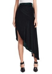 Monse Asymmetrical Velvet Midi Skirt
