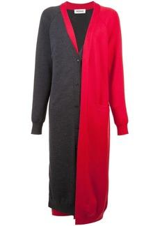 Monse bicolour layered long cardigan