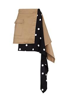 Monse Cascade Asymmetric Mini Skirt