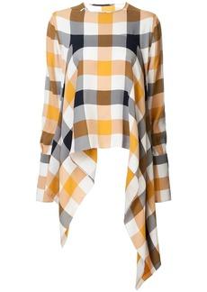 Monse checked asymmetric blouse