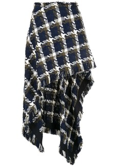 Monse checkered asymmetric skirt