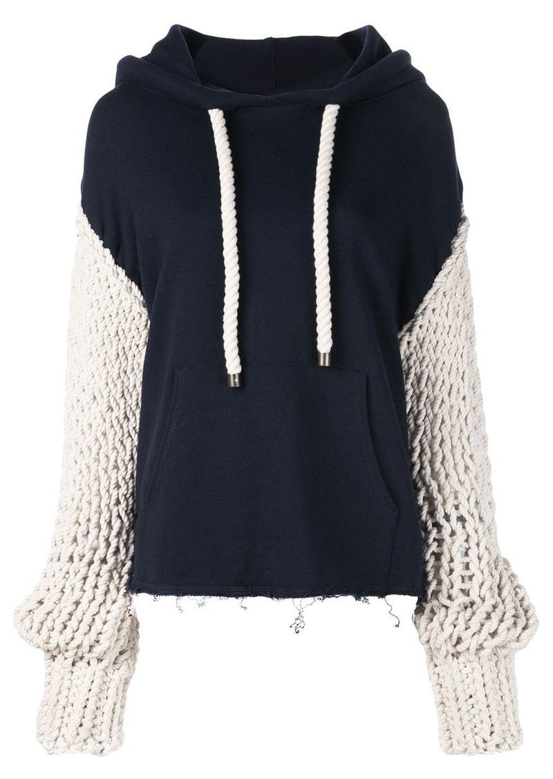 Monse chunky sleeve hoodie