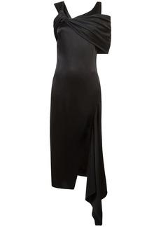 Monse cold shoulder asymmetric dress