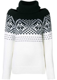 Monse cold shoulder snowflake sweater