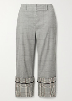 Monse Cropped Checked Wool-blend Straight-leg Pants