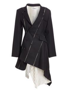 Monse Deconstructed Stretch Virgin Wool Blazer Dress