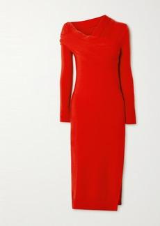 Monse Draped Merino Wool Dress