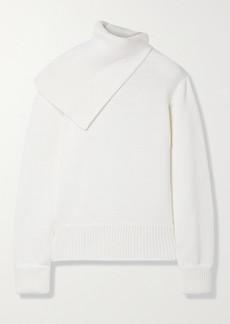 Monse Draped Merino Wool Turtleneck Sweater